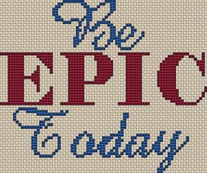 Epic Cross Stitch Chart