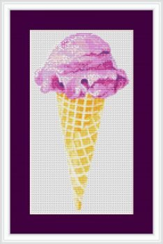 Ice Cream Cross Stitch Chart
